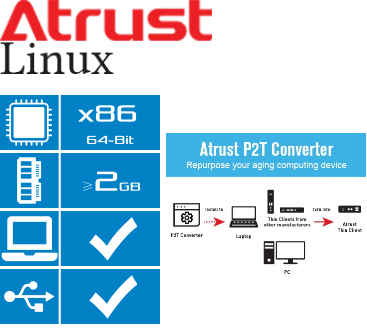 Atrust P2T Converter Features