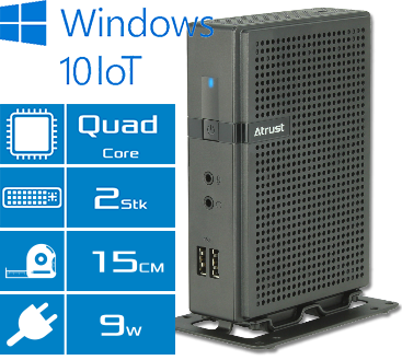 Atrust Windows 10 Embedded Thin Client t180W Features