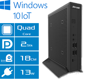 Atrust Windows 10 Embedded Thin Client t225W10 Features